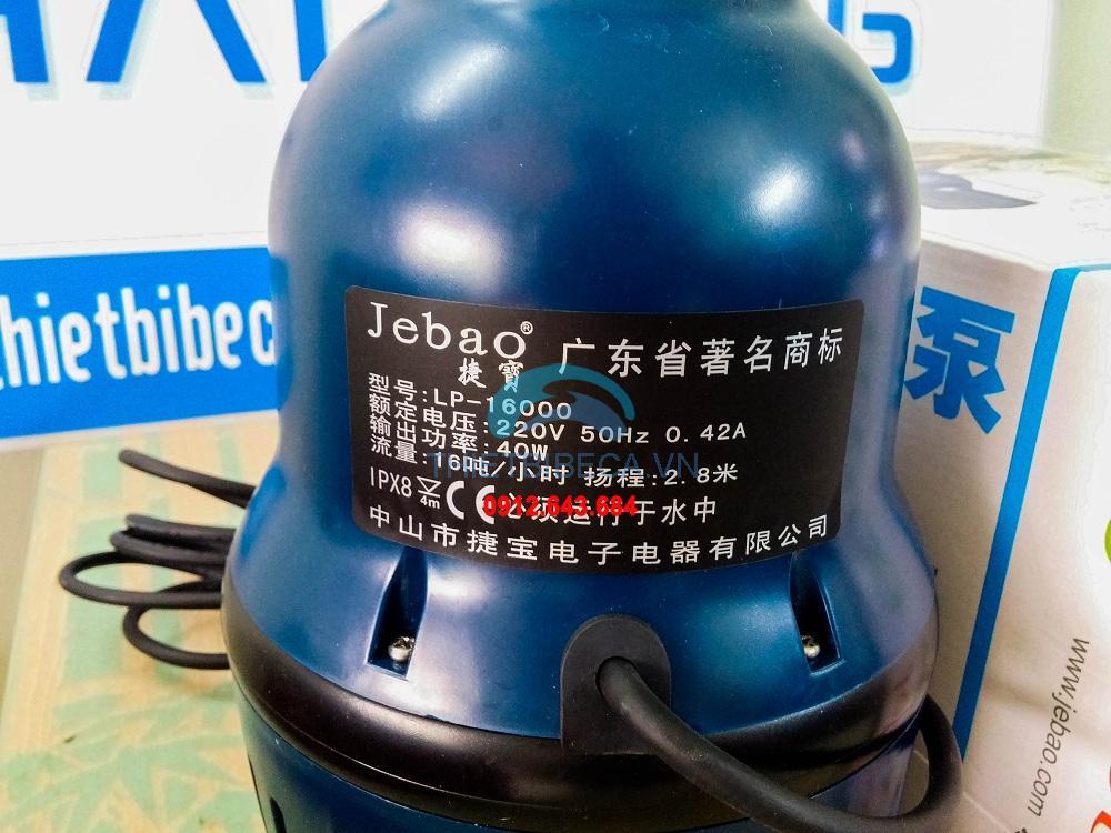 Bơm tạt Jebao LP16000 100W