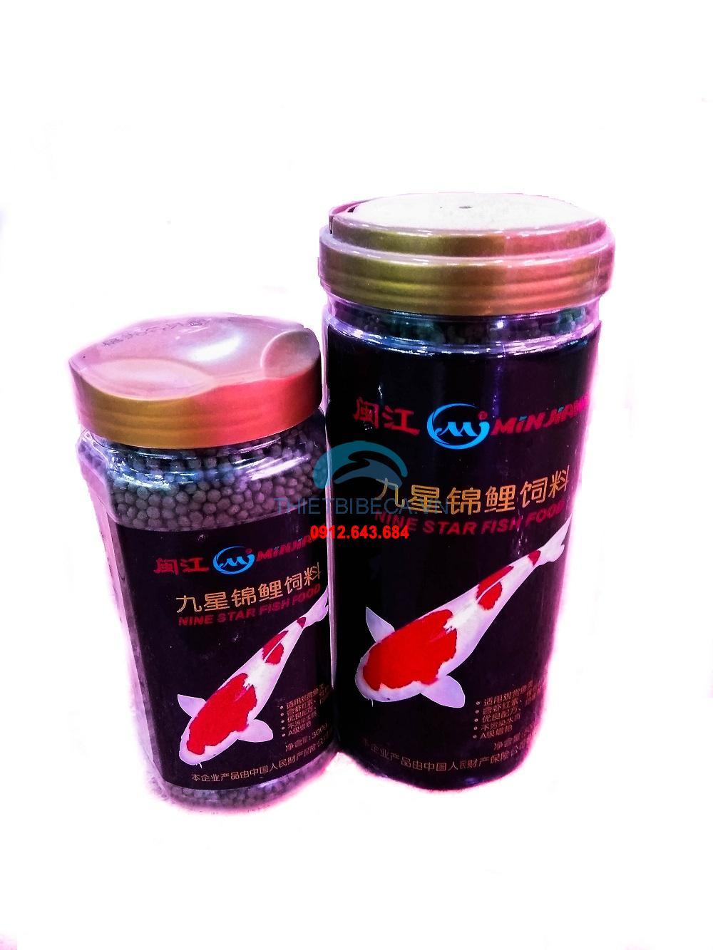 Thức ăn cá Koi Minjiang lọ 300g