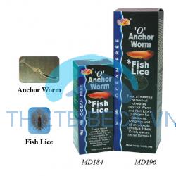 THUỐC SỐ 0: TRỊ TRÙNG MỎ NEO, RẬN CHO SAM, CÁ RỒNG - O ' ANCHOR WORM & FISH LICE
