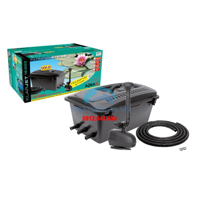 Bộ máy lọc thùng cho hồ cá koi 15m3 Aquael KlarJet 15000