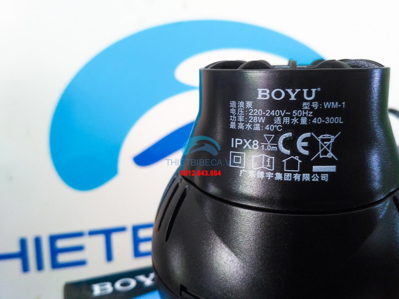Quạt tạo dòng nước BOYU WM-15 16.5W