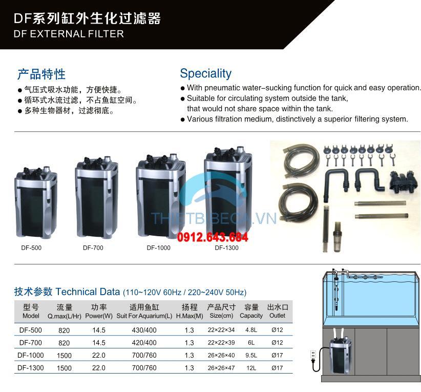 Lọc thùng Atman DF 500