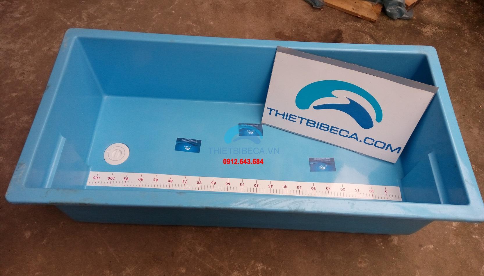 Thùng đo cá koi bằng composit dài 110cm