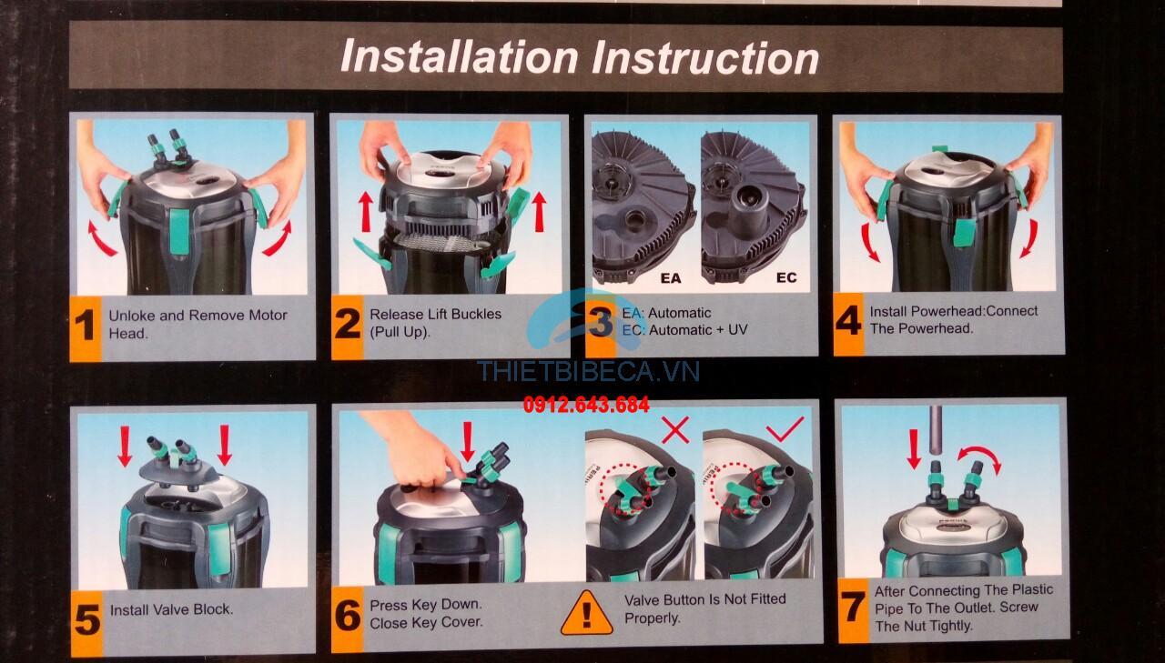 Lọc thùng có đèn uv Periha EC 12000U