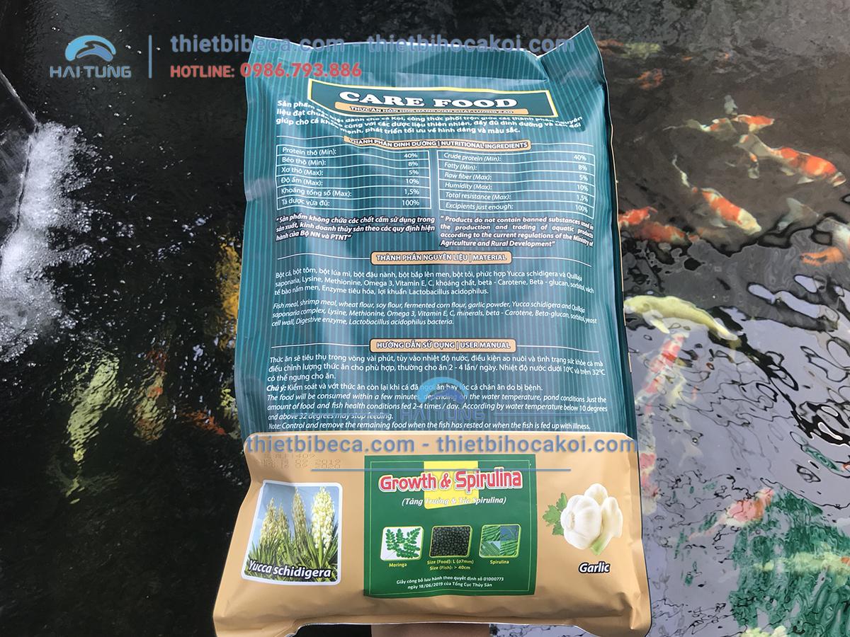 Thức Ăn Cá Koi tăng trưởng Care Food Growth Spirulina 5kg