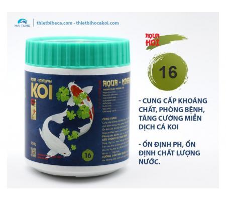 Số 16 Cung cấp khoáng chất, ổn định PH, phòng bệnh cá Koi AQUA - MINERWAY (AquaKoi)