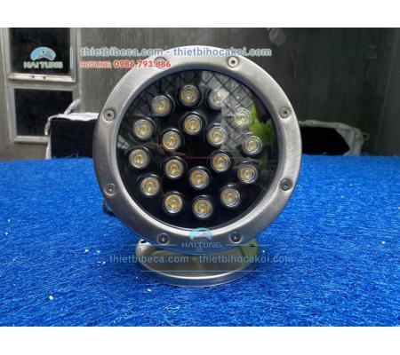 Đèn pha led đổi màu 18W đặt âm nước cho hồ Koi