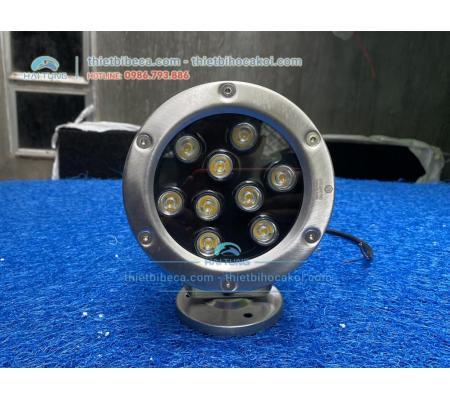 Đèn pha led vàng 9W đặt âm nước cho hồ Koi
