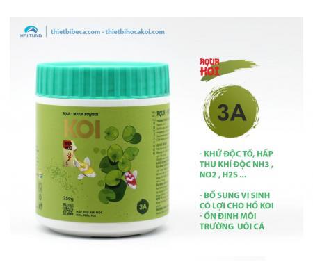 Số 3A Khử độc tố, hấp thu khí độc NH3 , NO2 hồ Koi AQUA - YUCCA POWDER (AquaKoi)