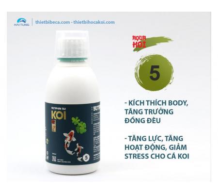 Số 5 Kích thích tăng trưởng, tăng lực, giảm Stress cá Koi BUTAPHAN B12 (AquaKoi)