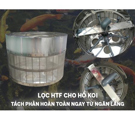 Lọc HTF Cho Hồ Koi, Tách Phân Hoàn Toàn Ngay Từ Ngăn Lắng