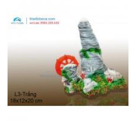 Núi nhựa trang trí L3 trắng