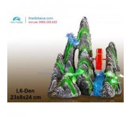 Núi nhựa trang trí L6 đen