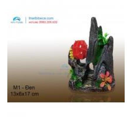 Núi nhựa trang trí M1 đen