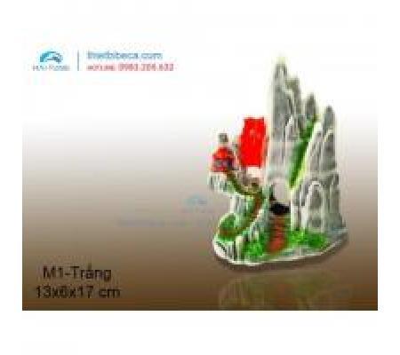 Núi nhựa trang trí M1 trắng