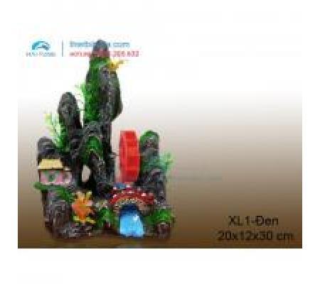Núi nhựa trang trí XL1 đen