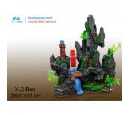 Núi nhựa trang trí XL2 đen
