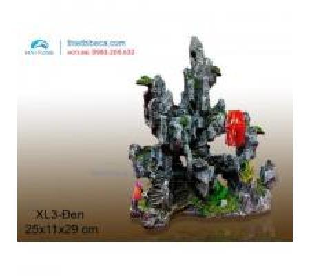 Núi nhựa trang trí XL3 đen