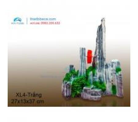 Núi nhựa trang trí XL4 trắng
