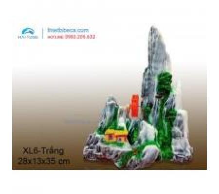 Núi nhựa trang trí XL6 trắng