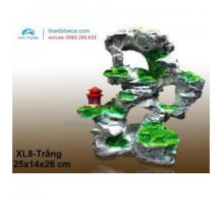 Núi nhựa trang trí XL8 trắng