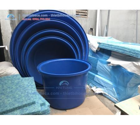 Tank nhựa tròn Dưỡng Cá - Thùng Nhựa nuôi cá 500L