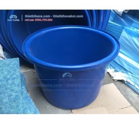 Tank nhựa tròn Dưỡng Cá - Thùng Nhựa nuôi cá 750L