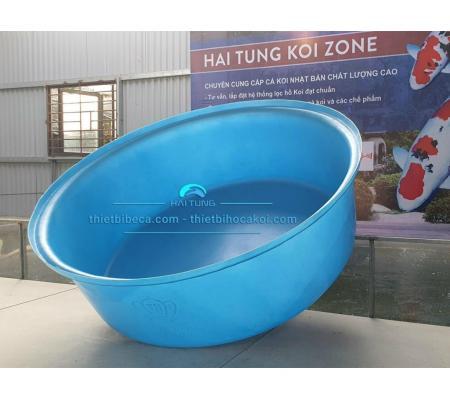tank nhựa tròn thấp quay cá, dưỡng cá 400l