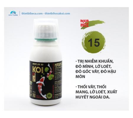 Số 15 Trị nhiễm khuẩn, đỏ mình, lở loét cá Koi MAXFLOR 30 (AquaKoi)