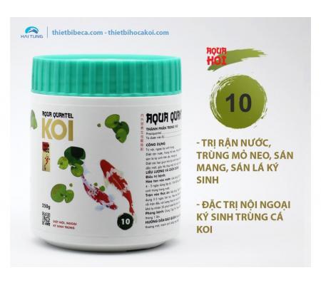 Số 10 Trị rận nước, trùng mỏ neo, sán mang, nội ngoại ký sinh trùng AQUA QUANTEL (AquaKoi)